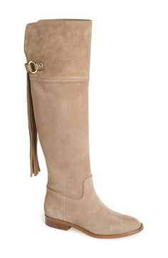 Michael Kors has this great suede boot for fall. The 'Rhea' Knee High Suede Boot has beautiful detailing and fringe in the back right on trend. And so well priced at $285. Nordstrom.