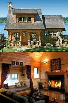 45 small log cabin homes ideas 35