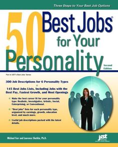 50 best jobs for your personality by Laurence Shatkin