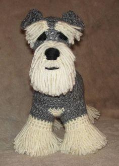 Schnauzer PDF Crochet Pattern by ScareCrowOriginals on Etsy, $3.50