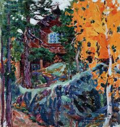 Kalela in Autumn - Akseli Gallen-Kallela - The Athenaeum Finland Helene Schjerfbeck, Scandinavian Paintings, Nordic Art, Life Paint, Canadian Art, Museum Of Fine Arts, Landscape Art, Great Artists, Les Oeuvres