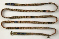 XIV GIRDLE - ITALY 1400 Girdle with Profiles of Half-Length Figures Italy ca.