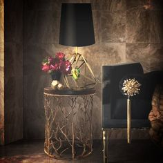 How glamorous is Kiki Side Table by Koket? #sidetable side table design #goldsidetable modern design #luxurydesign living room . See more at www.coffeeandsidetables.com