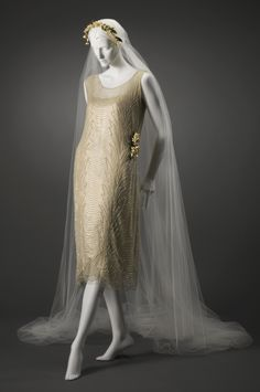 Prob. France, Wedding Dress and Slip, 1921, Gift of Christine Tailer in memory of Winifred Tailer, 2005.643a,b, Cincinnati Museum of Art.