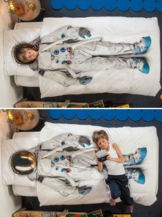 Every little or big boy's dream! Astronaut Duvet cover. Do they do these King Size?