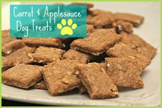 Easy Carrot + Applesauce Dog Treats {Recipe}