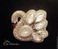 "Buy Brooch ""The Swan Princess"" - white, brooch brooch handmade beadwork"