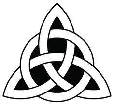 Celtic Trinity Knot (tattoo on thumb) three corners: past, present, and future