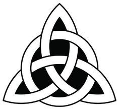 Celtic Trinity Knot (tattoo on thumb) three corners: past, present, and future