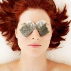 A good old fashioned tip for puffy #eyes : use chamomile tea bags as an eye compress. Apply when warm, keep on until cool.