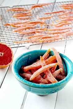 Candied Cardamom Grapefruit perfect for a sweet treat and easy homemade candy