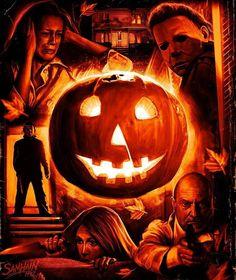 Horror Movie Art : John Carpenter's Halloween, by Samhain Horror Icons, Horror Movie Posters, Movie Poster Art, Best Horror Movies, Classic Horror Movies, Scary Movies, Halloween Film, Halloween Horror, Halloween Quotes