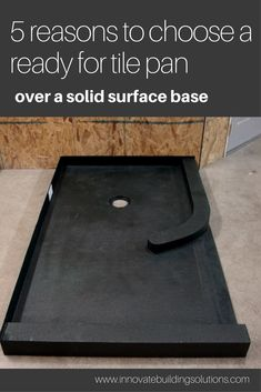 Are you debating between a tile ready shower pan and a solid surface base. Read this article to figure out which is best for you. Shower Base, Shower Floor, Diy Shower Pan, Custom Shower Pan, Shower Remodel, Bath Remodel, Tile Ready Shower Pan, How To Tile A Shower, Home Design