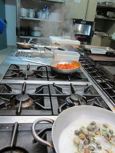 The Kitchen at Sabores Restaurant Capo Ceraso Resort Sardinia Italy