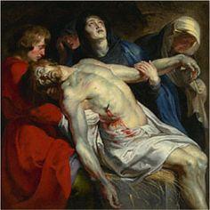 "-- ""The Entombment"" -- Circa 1612 -- Peter Paul Rubens -- Flemish -- Getty Museum Peter Paul Rubens, Pedro Pablo Rubens, Oil On Canvas, Canvas Art, Canvas Size, Marie Madeleine, Holy Saturday, Painting Prints, Art Prints"