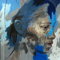 This painting is named 'STRATA' by its artist Lionel Smit