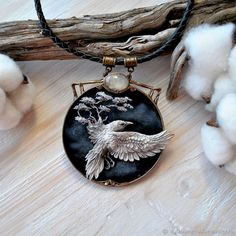 R - buy or order in an online shop on Livemaster Fantasy Jewelry, Jewelry Art, Jewelry Accessories, Jewelry Design, Jewellery, Polymer Clay Crafts, Polymer Clay Creations, Creation Art, Polymer Clay Necklace