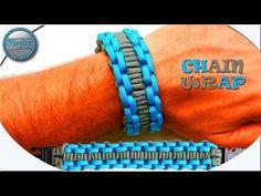 Unique How To Make Paracord Bracelet Chain Wrap DIY Paracord Tutorial - Paracord - Bracelets Paracord Tutorial, Bracelet Tutorial, Paracord Bracelet Designs, Paracord Bracelets, Knot Bracelets, Survival Bracelets, Survival Knots, Survival Gear, Paracord Braids