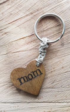 personalized keychain, monogrammed keychain, rustic, heart shaped keychain, custom keychain, wooden keychain, engraved keychain, pyrography by RickiTimberTavi  Please visit my shop at  https://www.etsy.com/shop/RickiTimberTavi