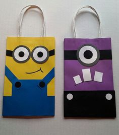 Despicable Me Minion Party Favor Gift Bags by PartyRockinEvents