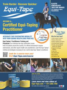 A great way to help your horse stay sound and comfortable. Learn more about Equi-Tape the Equine Elastic Kinesiology Tape www.equi-tape.com