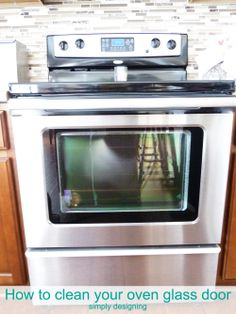 How to clean your Oven Glass Door-simple way to clean dirt &grime off of your glass oven door Deep Cleaning Tips, House Cleaning Tips, Cleaning Solutions, Spring Cleaning, Cleaning Hacks, Cleaning Grease, Cleaning Products, Buy Toilet, Homemade Toilet Cleaner