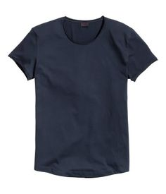 1f947955 T-shirt in cotton jersey with raw roll edges around the neckline and  sleeves and