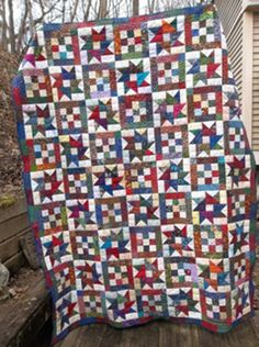 QM Scrap Squad:  Emily Klaczak chose Bonnie Hunter's Mai Tais in Paradise as her final Scrap Squad quilt.