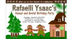 Ysaac's Hansel and Gretel Themed Party – Invites