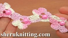 Crochet Beaded Cord Tutorial 68 In this crochet cord tutorial we will show you how to crochet beaded floral cord. Crochet beaded floral cord consist of 10 rows. You can make your cord as long as you want by making as many flowers as needed. You can use as bracelet or accessories for clothes. http://sheruknitting.com/videos-about-knitting/romanian-lace-ribbons-and-cords/item/802-crochet-beaded-floral-cord-tutorial-68.html