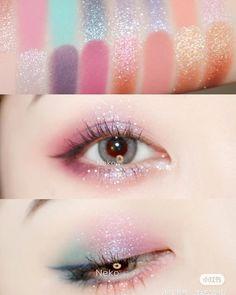 Makeup Eye Looks, Eye Makeup Art, Eyeshadow Makeup, Makeup Inspo, Makeup Ideas, Kawaii Makeup, Cute Makeup, Pretty Makeup, Korean Eye Makeup