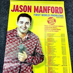 Jason Manford posters are here! #The Baths Hall, Scunthorpe. show 2013!