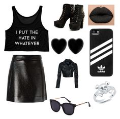 """""""Goth"""" by melgcruz ❤ liked on Polyvore featuring MICHAEL Michael Kors, Dollydagger, adidas and Bling Jewelry"""