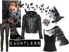 Tris Divergent Costume and Makeup Divergent Costume Ideas: Tris in a daring Dauntless outfit Divergent Costume, Divergent Outfits, Divergent Fashion, Divergent Fandom, Fandom Outfits, Divergent Dauntless, Divergent Series, Divergent Cosplay, Carnival
