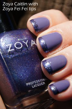 Zoya Caitlin with Zoya Fei Fei tips - www.facebook.com/colormejules and www.colormejules.com