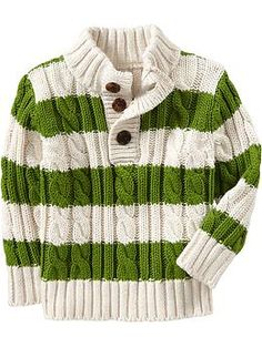 Rugby-Stripe Mock-Neck Sweaters for Baby | Old Navy... Sean (Winter Wardrobe)