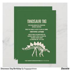 Dinosaur Dig Birthday Invitation Dinosaur Birthday Invitations, Dinosaur Birthday Party, Custom Invitations, Dinosaur Dig, Prehistoric Dinosaurs, Invite Friends, Adulting, Paper Texture