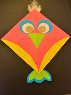 Kite 0wl Step 17 Kites CraftCraft KidsConstruction PaperKid ArtMakar