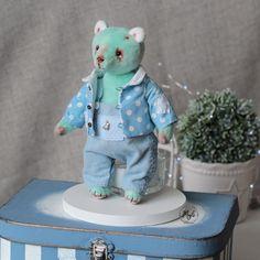 Teddy Eddy, handmade, art,doll Handmade Art, Art Dolls, Dinosaur Stuffed Animal, Teddy Bear, Toys, Animals, Activity Toys, Animales, Animaux