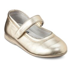 Toddler Girls' Chicco� Leather Mary Jane Shoes - Gold