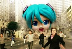 This looks like a) how the world will probably end and b) like a live-action movie we definitely want to watch. What do you think of Hatsune Miku gone rogue? #Vocaloid