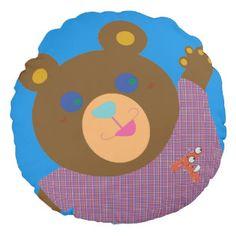 Trillions Teddy Round Pillow