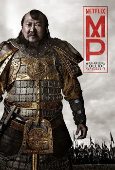 I'm so far liking the series Marco Polo on Netflix. Kublai Khan is a first class bad-ass. Although historically not very accurate. The real Kublai pardoned Ariq instead of taking him down with his own hands like on the series. Kublai Khan, Polo 2015, Movies Showing, Movies And Tv Shows, Marco Polo Netflix, Poster A3, Chinese Armor, Genghis Khan, Ghost Of Tsushima