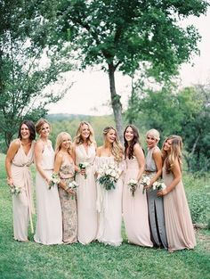 Bohemian Bridesmaid Dresses Ideas | Earth tone bridesmaid dresses: