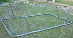 Simpleliving: What To Do With An Old Trampoline Frame! garden or chook enclosure