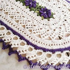 Crochet Placemat Patterns, Crochet Tablecloth, Hand Crochet, Doilies, Free Pattern, Diy And Crafts, Projects To Try, Lily, Elegant