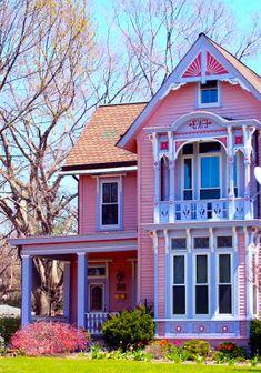 pink house blue window da ba dee da ba dye