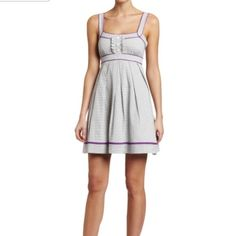 sailor dress Blue and white stripes dress with YELLOW piping.  (Purple is pictured). Jessica Howard Dresses
