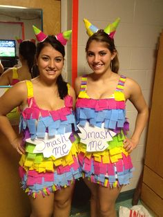 """DIY Pinata Costume! : It would be so much better if their signs said, """"I get smashed at parties!"""""""