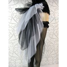 Black White Burlesque Tutu Bustle (57 CAD) ❤ liked on Polyvore featuring skirts and accessories